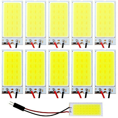10X White COB 18 LED Plate Car Interior Dome Light Bulb T10 Festoon 12V Lights