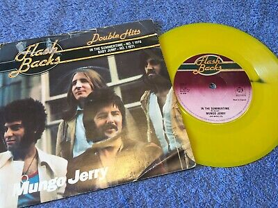 """Mungo Jerry *7"""" Vinyl/record* In The Summertime * 1971 * Fbs 7 Yellow Vinyl"""