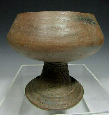 Phillipino Phillipines Pottery Stemmed Cup probably Cebu area ca. 800 AD