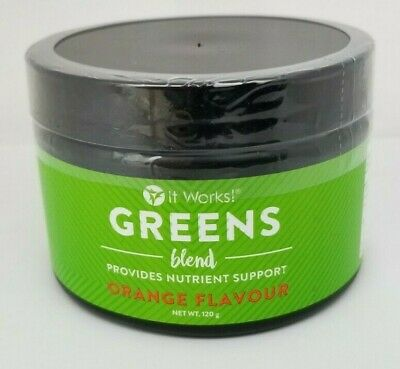 It Works! Greens Blend Provides Nutrient Support Orange Flavor 120g 06/20+