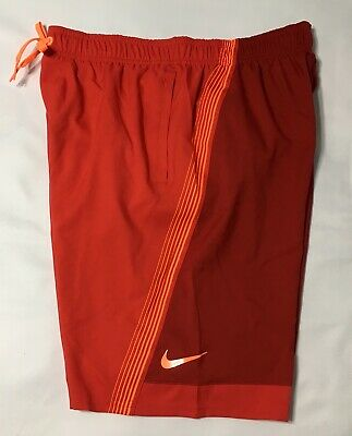 """Nike 9"""" Volley Men's Swim Shorts NESS 8438 Red M  L XL NWT"""