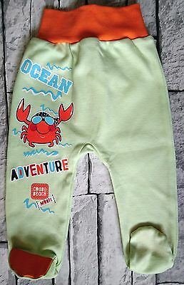BNWT Baby Toddler Boys Trousers with feet 100% Cotton 3-6 Months