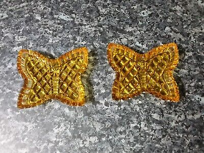 Amber Glass Butterfly Small Dish X 2