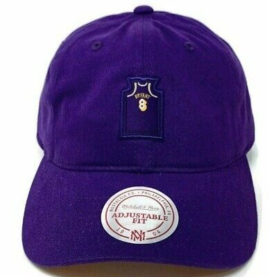 5beb6fb8f45f0 New Mitchell   Ness Kobe Bryant Los Angels Lakers Purple Strapback Dad Hat  Cap