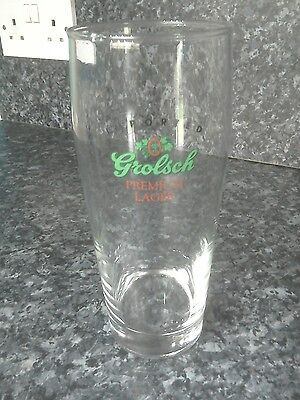 Retro Grolsch premium lager 1pint beer/ lager glass