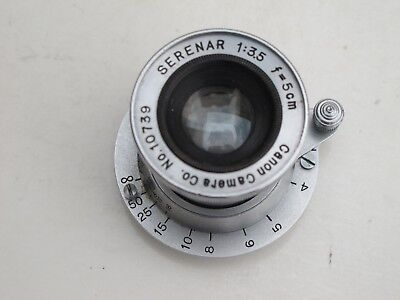 Leica LTM Canon rangefinder 5cm f:3.5 Serenar collapsible lens 50mm RARE early