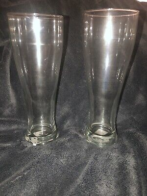 9 Inch Tall Pilsner Glass Clear Unbranded