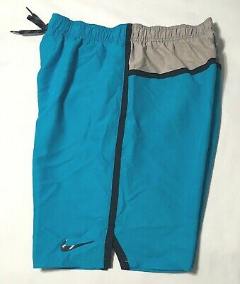 8ce58c0524 NIKE 9 INCH Swim Volley Shorts Mens Size: XL Black/Grey/White ...