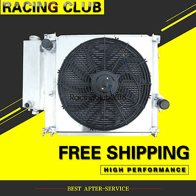 316i 318i Z3 E36 Radiator + Fan+Fan shroud For BMW 91-00 Aluminum 2 Row