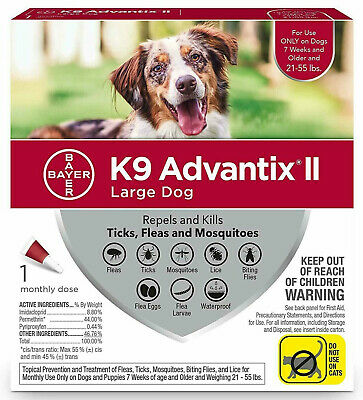 K9 ADVANTIX II for Large Dogs 21-55 lbs, 1 Dose Only