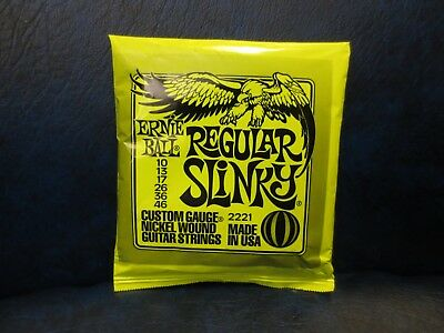 2221 Ernie Ball Regular Slinky Electric Guitar Strings 10-46 New Free Shipping
