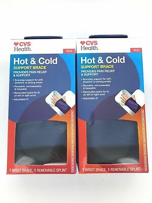 44f0682613 Support Wrist Brace - LEFT or RIGHT - Hot + Cold Reusable Gel Pad Adjustable