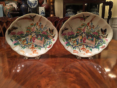 A Pair Excellent 19th C Chinese Famille Rose Plates.