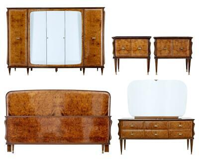 20TH CENTURY 1950's ITALIAN WALNUT AND MAHOGANY BEDROOM SUITE