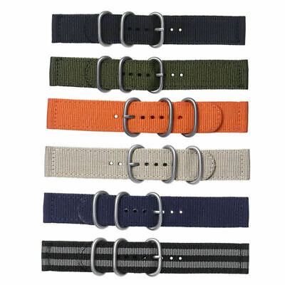 Fabric Woven Nylon Watch Strap Band Buckle Replacement Belt 18mm 20mm 22mm 24mm