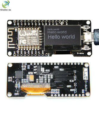 "NEW Wifi ESP8266 ESP-12F NODEMCU Wemos CP2102 Development Board +0.96"" OLED"