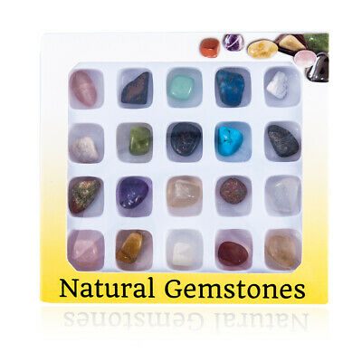 Crafters Rock Collection 20pcs Mix Gems Crystals Natural Mineral Specimens