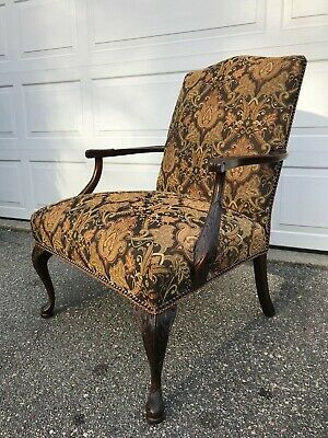 Gorgeous Antique Chair - newly professionally upholstered - Comfortable & Sturdy