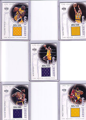 2000 UD Lakers Master Collection Jersey Set /300  Kobe Bryant  Shaq VERY RARE!