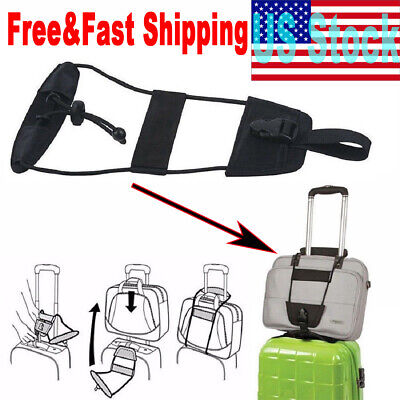 2 pcs Add A Bag Strap Travel Luggage Suitcase New Black Bag Bungee USA STOCK