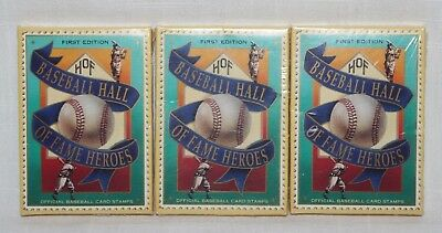 Set of 3 1992 St. Vincent Hall of Fame Heroes Baseball Card Stamps New & Sealed