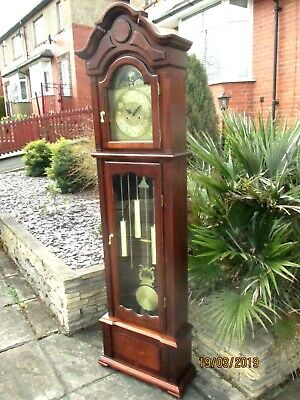 Imposing Grandfather 8 Day Striking Clock .
