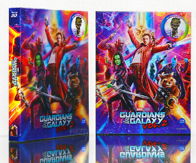 GUARDIANS OF THE GALAXY VOL. 2 [Blu-ray], 2D+3D (STEELBOOK), LIMITED Lenticular