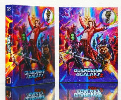 (Preorder) GUARDIANS OF THE GALAXY VOL. 2 Blu-ray [2D+3D] (STEELBOOK) Lenticular