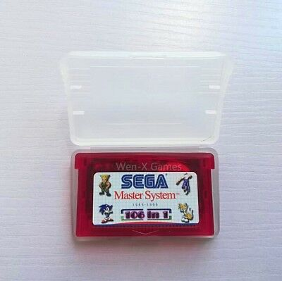 106 in 1 Games Sega Master System GBA SMS for Game Boy Advance Support save