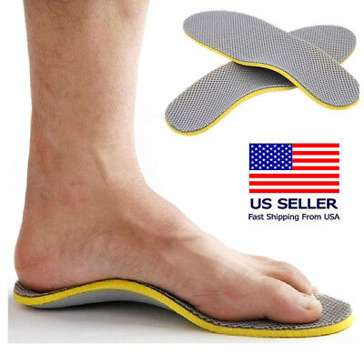 Orthotic Shoe Insoles Flat Feet Foot High Arch Gel Support Inserts Pad Care US K