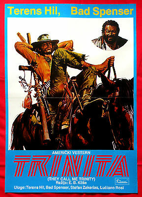 They Call Me Trinity 1970 Terence Hill Bud Spencer Barboni Exyu Movie Poster #2