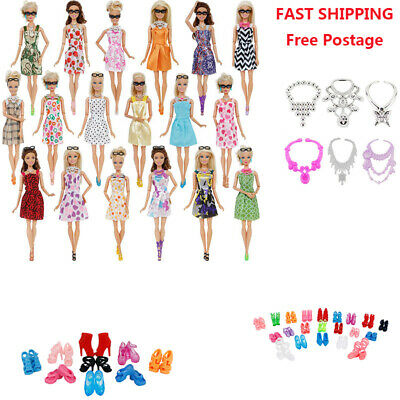 Doll Accessories Set For Barbie Doll Dresses Shoes Jewellery Clothes Set Beauty