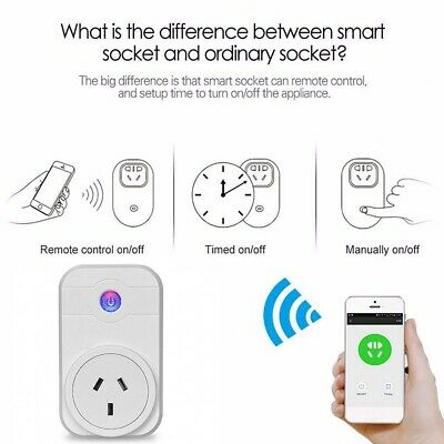 Wifi Smart 10A Plug AU Power Socket Outlet Switch APP for ECHO ALEXA GOOGLE HOME