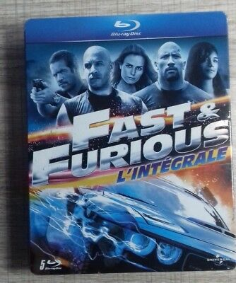 Blu ray Intégrale Fast and furious 1 à 5 STEELBOOK COLLECTOR fr