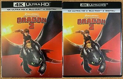 How To Train Your Dragon 2 4K Ultra Hd Blu Ray 2 Disc Set + Slipcover Sleeve