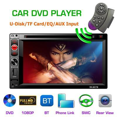 """Android 8.1 Car Stereo GPS Navigation Radio Player Double Din WIFI 6.2"""" Inch Tou"""