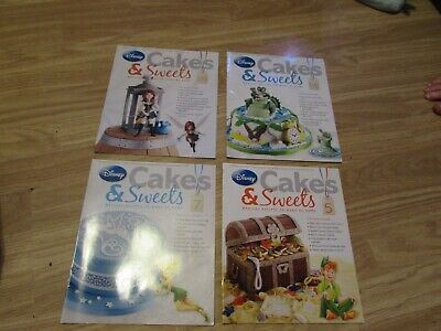 4 Issues Of Disney's Cakes & Sweets Magazines Issues 5/7/116/119 By Eaglemoss