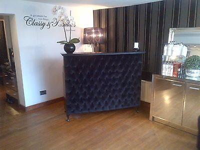 Reception Desk with padded front - other colours and fabrics available
