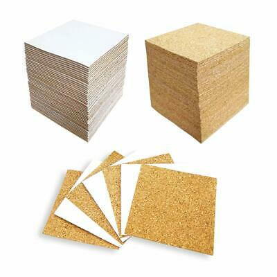 40 Pcs Square Self-Adhesive Cork Sheets,4x 4 Cork Mats Backing Sheets Mini Wall Cork Tiles for Heat Resistant Coasters and DIY Crafts Supplies