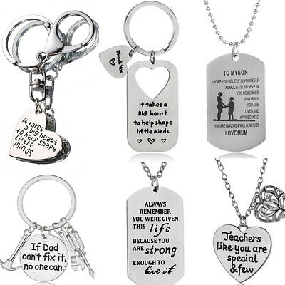 Family Gifts Daughter Son Mum Dad Father Mother Best Friends Pendant Necklace