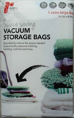 Russel Large Vacuum Storage Bags Shelving Solution Home 130x90cm Reduce Space