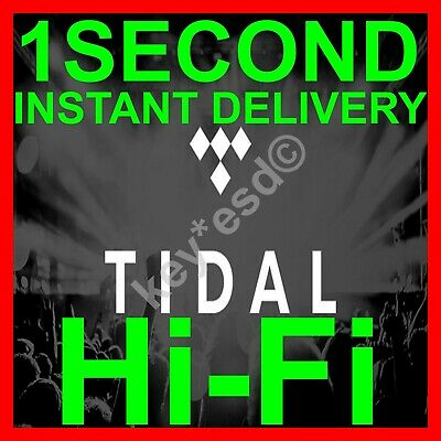 TIDAL Hi-Fi FAMILY Plan |+| 3 Months GUARANTED |+| 6 Users |+| INSTANT DELIVERY