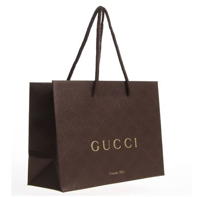 New GUCCI Gift/Shopping Bag- Sealed In Plastic Wrapper FAST & FREE SHIPPING!!