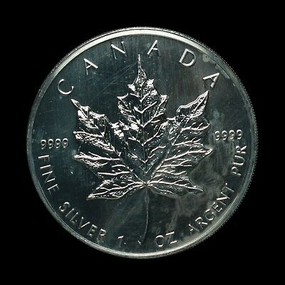 2006 Canadian 1oz Silver Maple Leaf, 5 Dollars, UNC in capsule with COA