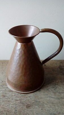 Arts And Crafts Hammered Copper Jug. Made In England