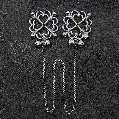 One Pair  Steel palted ally adjustable metal Nipple clips with or without chain