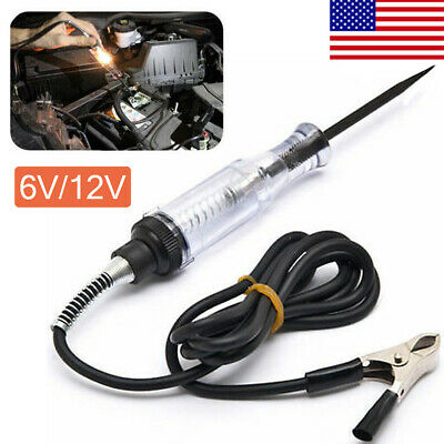 Car Voltage Circuit Tester  6V/12V DC System Probe Continuity Auto Test Light KY