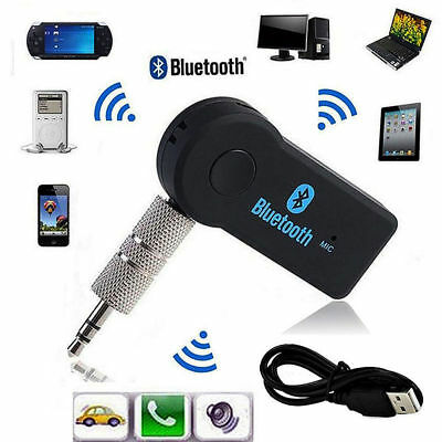 3.5mm Wireless USB Mini Bluetooth Aux Stereo Audio Music Car Adapter Receiver @