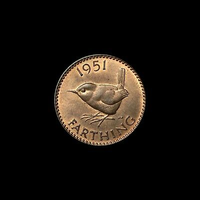 King George VI 'Wren' Farthings Choose your date- all UNC. 1937 - 1951