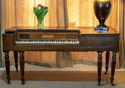 Antique Regency square piano, by John Broadwood. Circa 1817, mahogany.